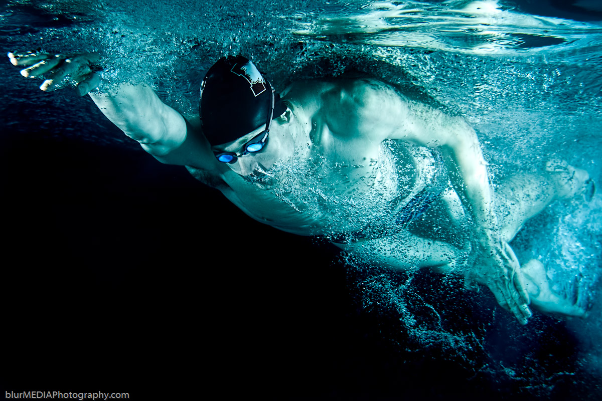 Freestyle Swimmer - Dark Background
