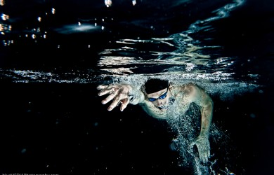Freestyle Swimmer from Front