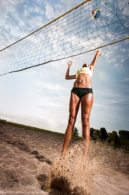 Beach Volleyball Spike - Under Armour and Lululemon Beach Volleyball Uniform Combination