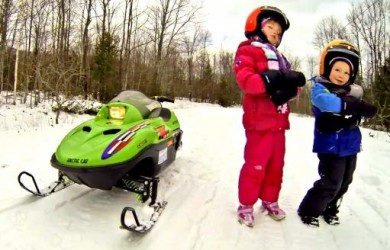 Arctic Cat Chill - GoPro Hero3 Family Video Tips Kids Snowmobile