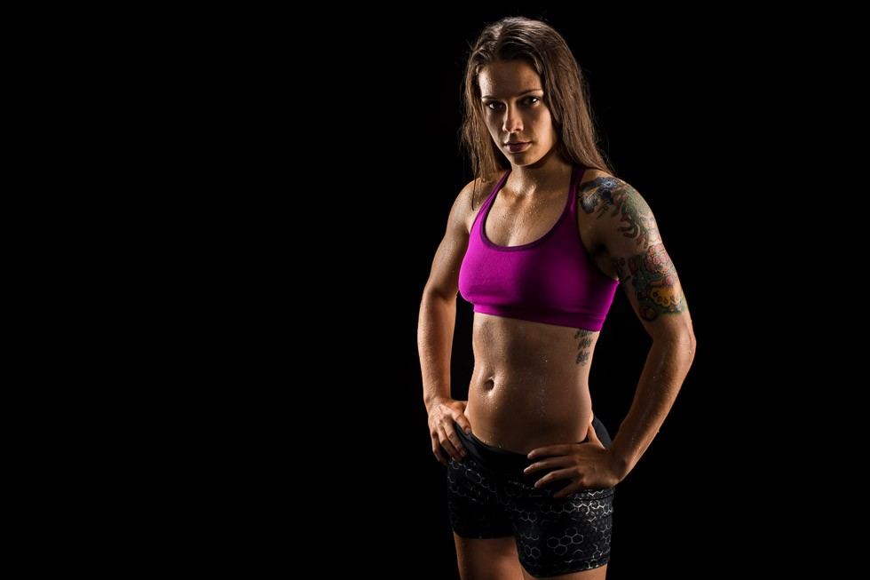 Healthy Muscular Female Athlete Wearing Athletic Wear toronto commercial photographer