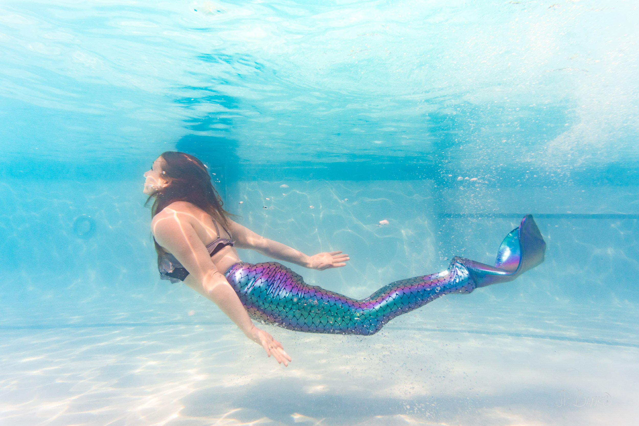 Florida Mermaid Tail Costume In Summer Swimming Pool Pictures By Mom