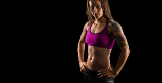 studio lighting for athletic portraits of fitness models